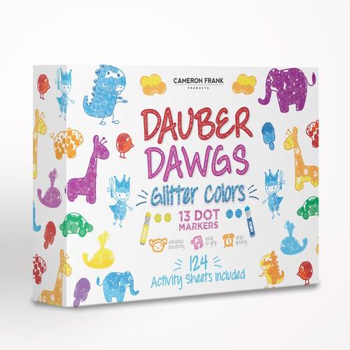Dauber Dawgs Dot Markers (Glitter Colors)