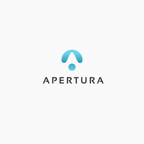 Blue Gradient Logo for Apertura