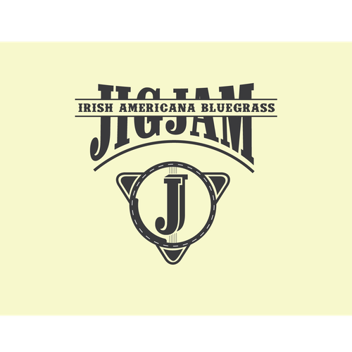 A logo concept for a bluegrass band