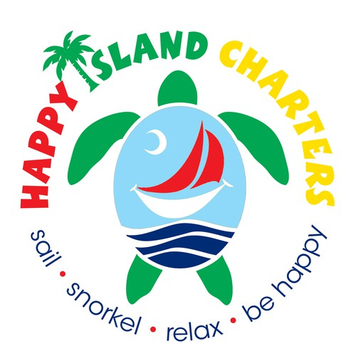 Be Happy! Make us the perfect logo for Happy Island Charters!