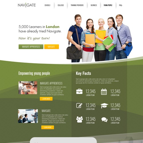 Educational services website