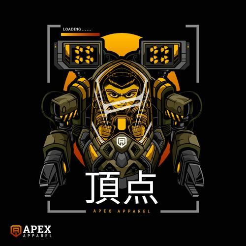 japanese theme robot design