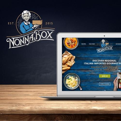 NonnaBox Logo + WebDesign