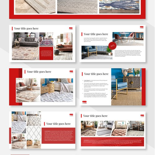 Design a PPT for a trendy area rug brand