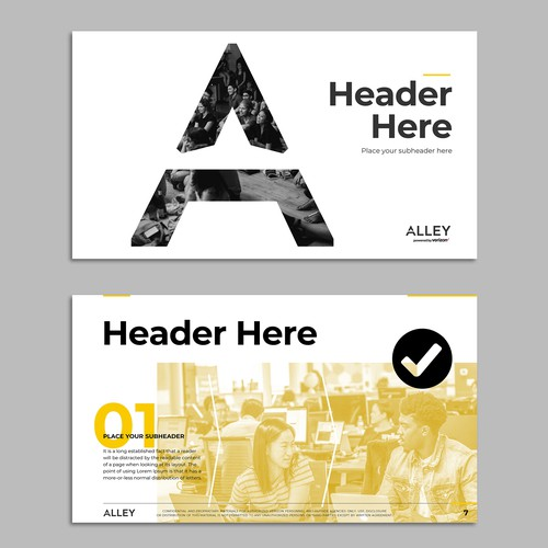 Powerpoint template for Alley