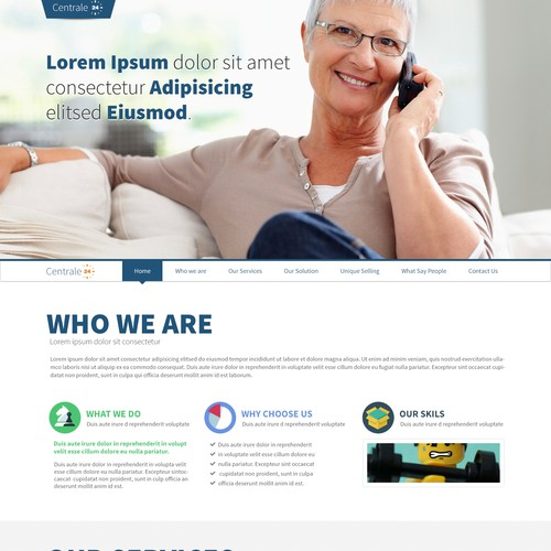Stunning one-page website for a high-tech & innovative healthcare liaison