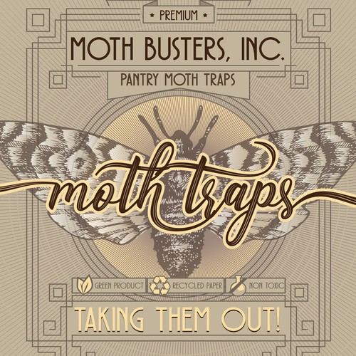 Moth traps packaging
