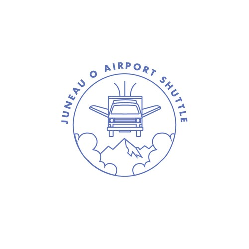 Logo design for an airport shuttle company