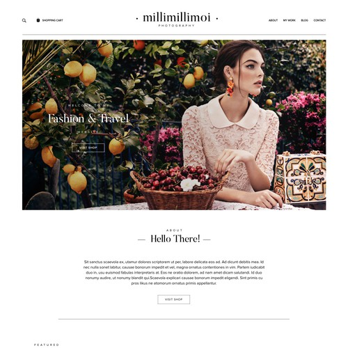 Web Design for a Fashion Photographer