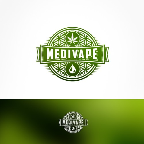 Logo for a medical CBD vape liquid company