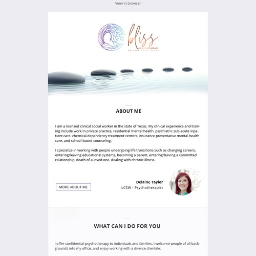 Responsive, clean email template