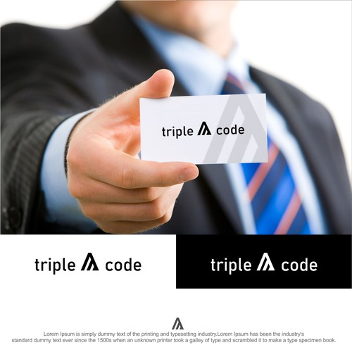 Bold Logo for Triple A Code