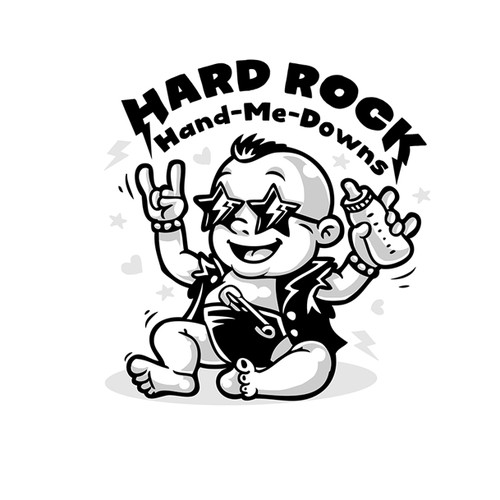 Rocker clothes for babies. Hard Rock Hand brand