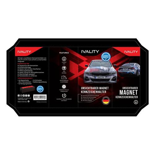 New Design of Magnetic Car Platholder Packaging