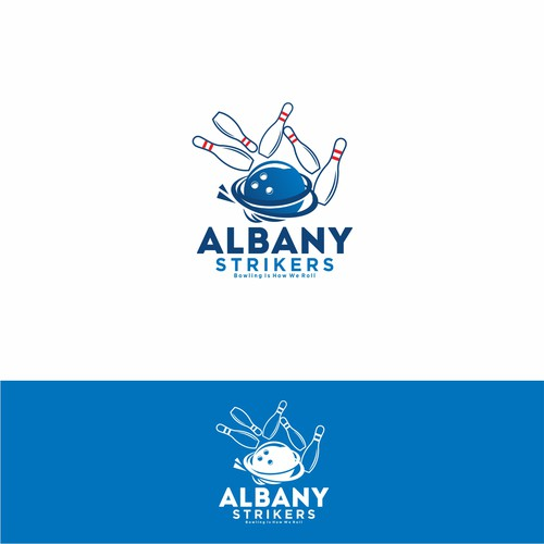 Bowling Logo Albany Strikers