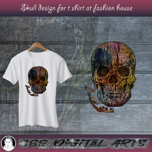 A Head Skull made by mess