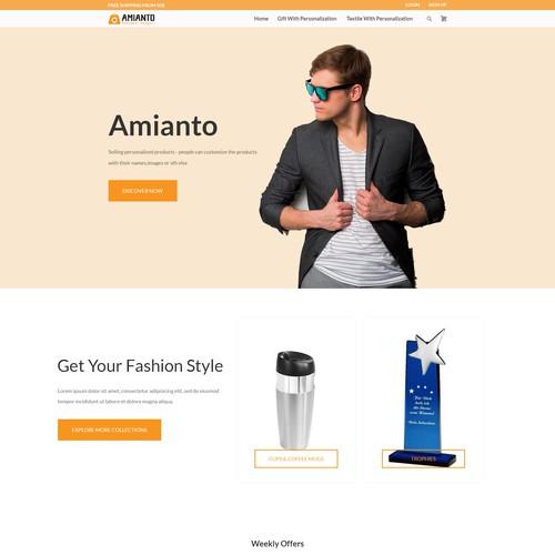Design nice feeling Woocommerce Startpage
