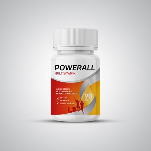 Label Design of PowerAll Multivitamin