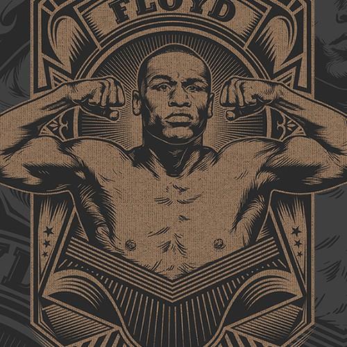 Floyd Mayweather Boxing T-Shirt Design