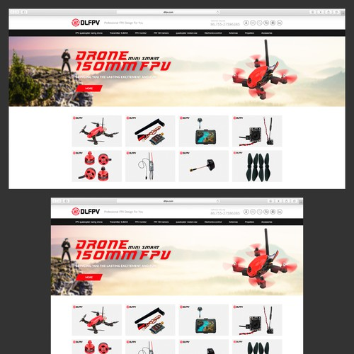 Drone 150mm FPV Banner