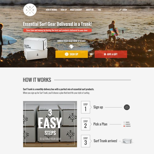 Home Page for Surf E-commerce Shop