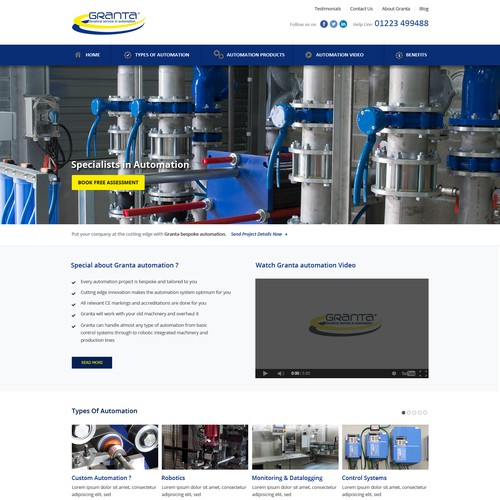 Stunning Industrial Automation Website