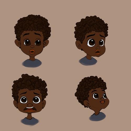 Dark Skin Character Illustration