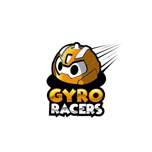 Bold,Playful, and Cute logo concept for Gyro Racers