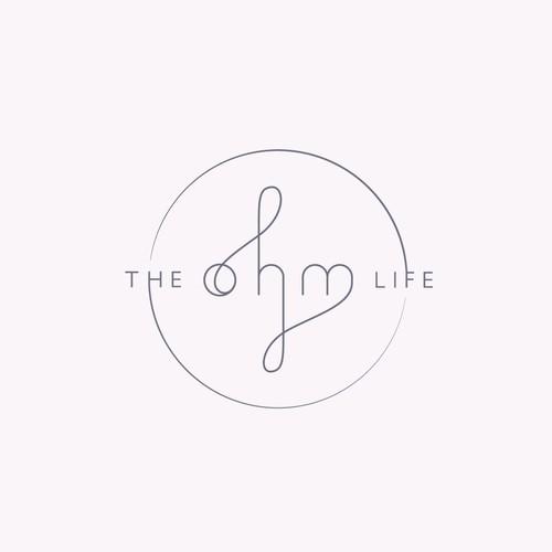 Balanced logo design for THE OHM LIFE