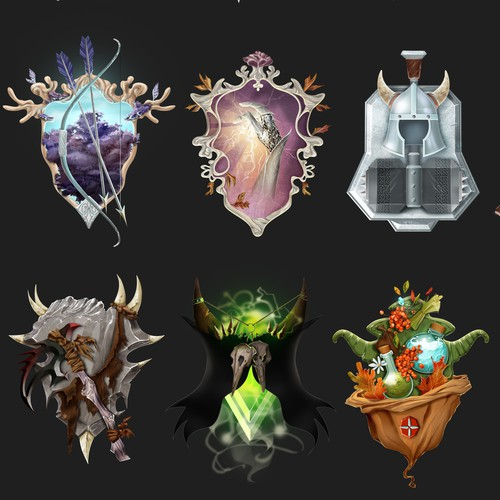 Class Emblems for a Video Game