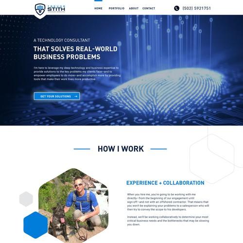 Web design for tech consultant