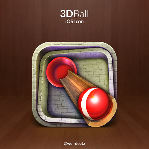 App icon for new 3D iPad game