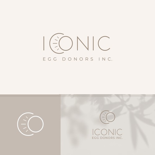 Minimal logo concept for egg donor agency