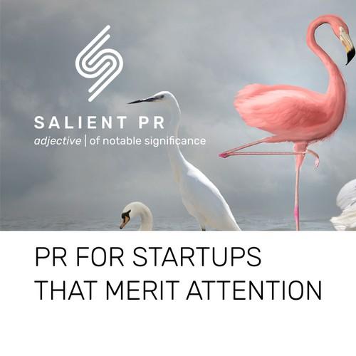 Logo for a PR company