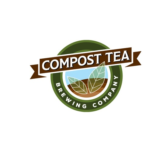 Logo for a tea company