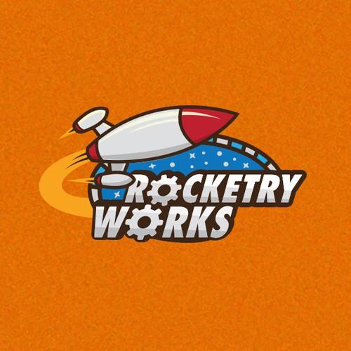 Retro rocketry logo