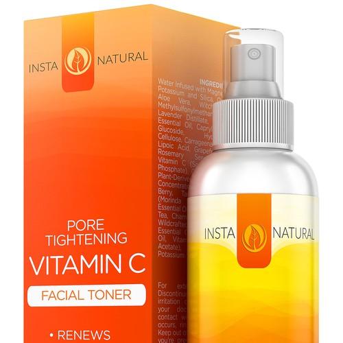 Vitamin C 3D Rendering