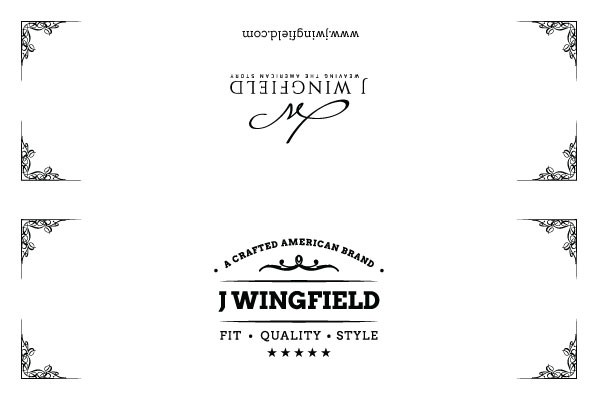 Swatch card header for J Wingfield