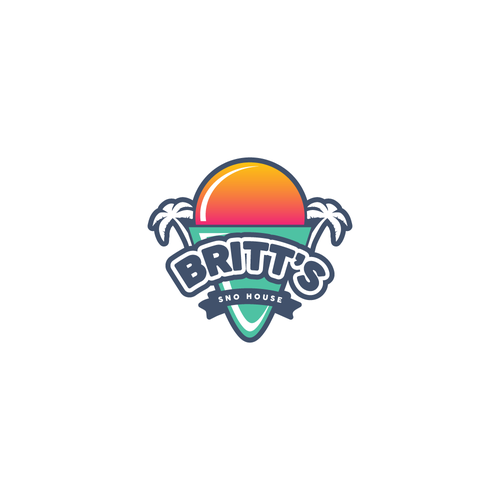 Shaved ice logo