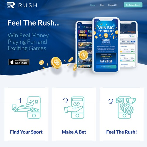 Rush Bet & Win Website