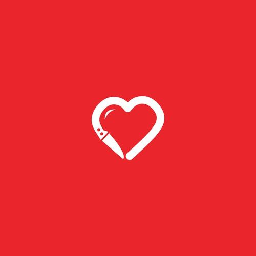 Heart Knife Logo