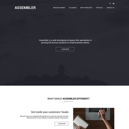Minimalist website design