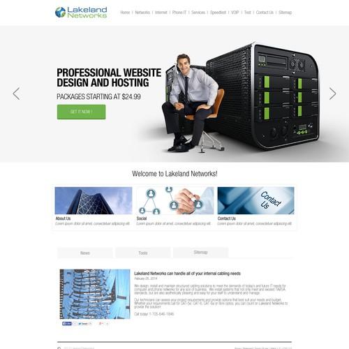 WEBSITE RE-DESIGN FOR LAKELAND NETWORKS
