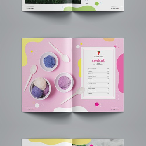Icecream magazine layout