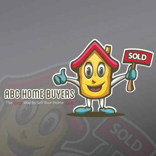 Playful real estate mascot logo