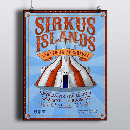 Classical circus poster for a ten year anniversary show