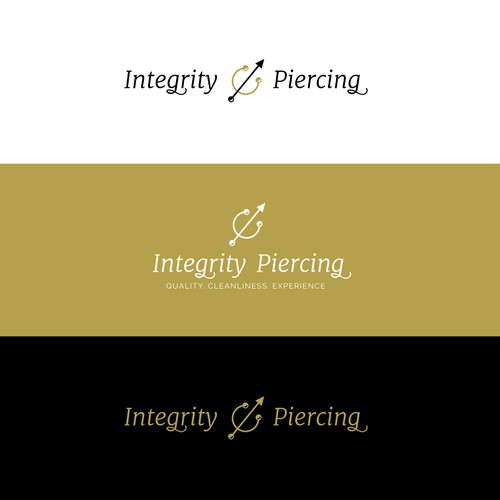 Elegant logo for piercing salon