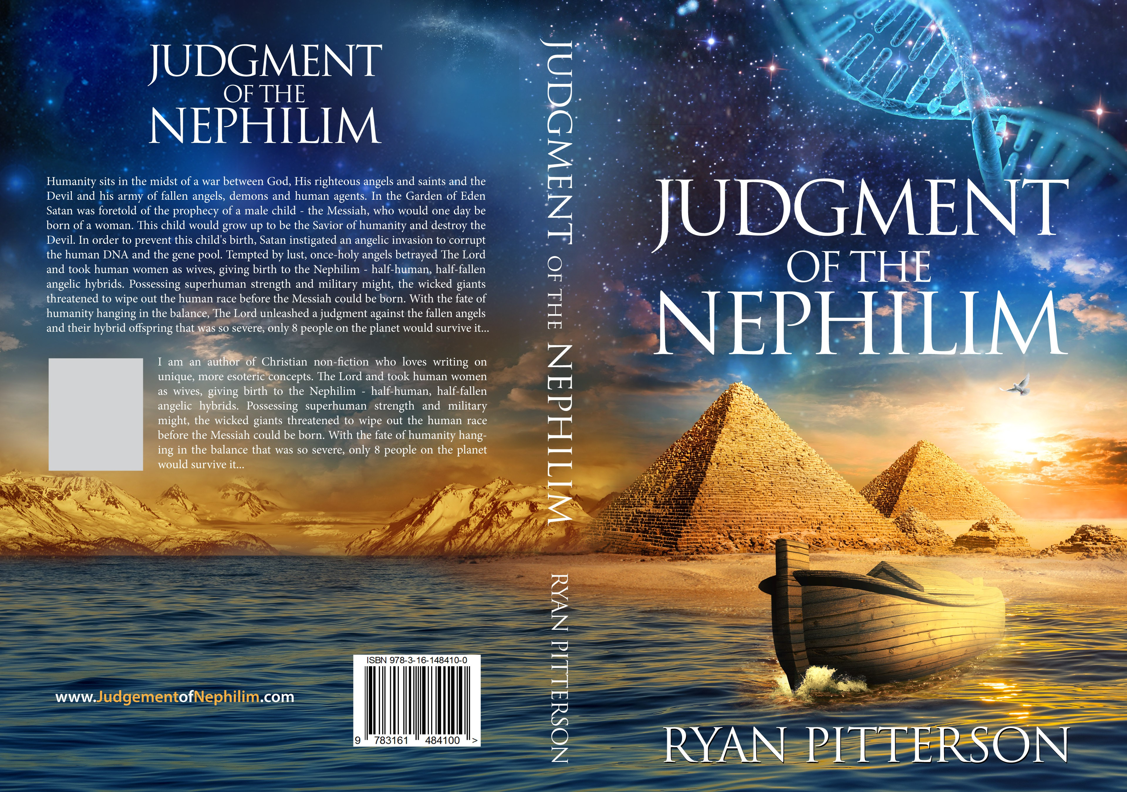 Create an exciting, eye-catching cover for the book: Judgment of the Nephilim