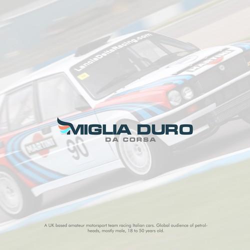 Bold Logo for Miglia Duro da Corsa