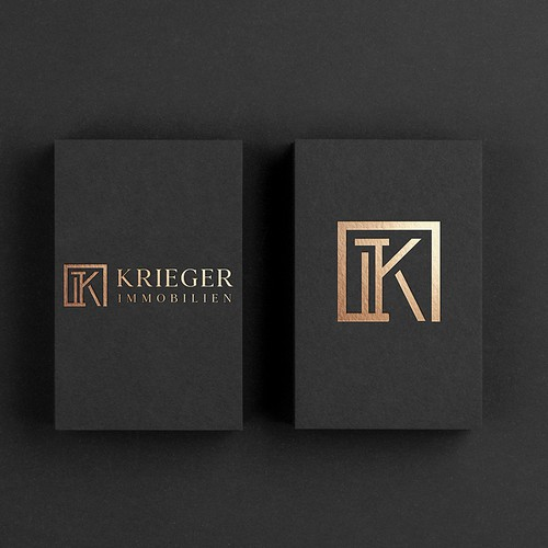 Luxury real estate company logo